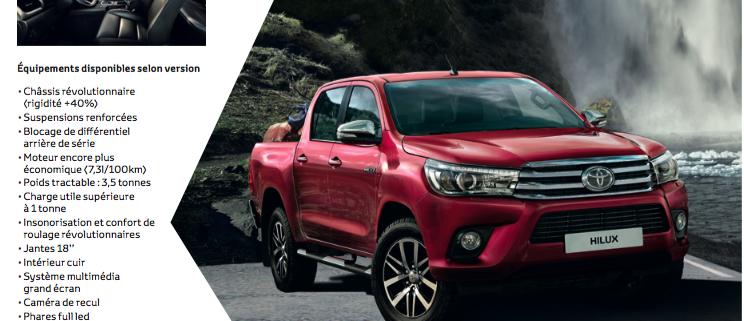 Jusqu'à 5 000€ d'avantages client sur le Toyota Hilux