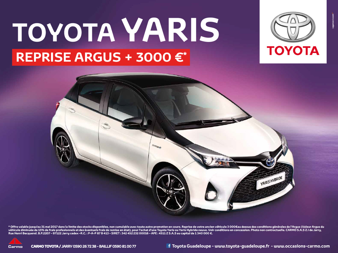 yaris reprise argus toyota guadeloupe. Black Bedroom Furniture Sets. Home Design Ideas